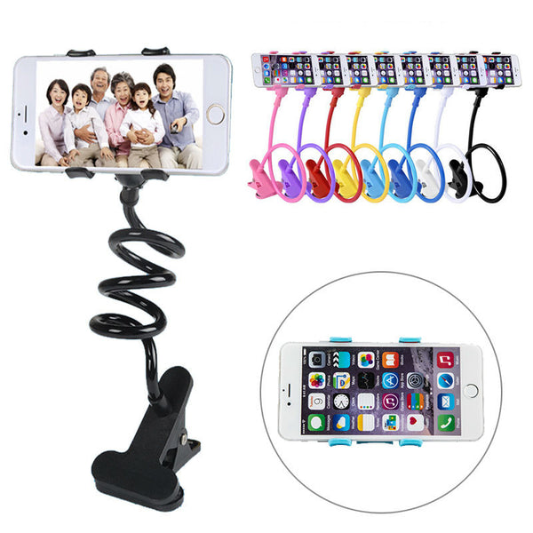 360 Rotating Flexible lazy bed desktop tablet car Long Arm holder stand selfie mount bracket for iphone 6,  samsung S5 S6