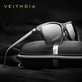 VEITHDIA Retro Aluminum outdoor mirror Polarized Sunglasses Men Women designer Vintage Eyewear Fishing Sun Glasses