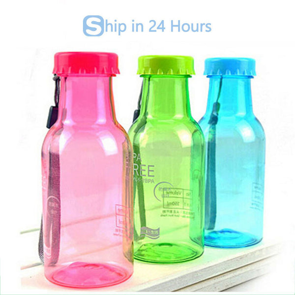 350 ML Creative Fashion Portable Cycling Water Bottle Impregnable Plastic Kettle First-class Quality