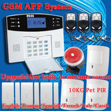 Voice Wireless GSM Alarm system Home security Alarm systems LCD Keyboard Pet Sensor
