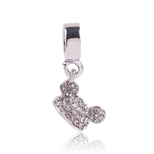 1pcs Silver Bead Charm European Silver with Mickey cartoon Charm Pendant Bead, Fits Pandora Bracelet