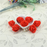 10pcs Mini PE Foam Red Rose Artificial Flowers For Wedding Car Decoration DIY Wreath Handmade Scrapbooking Fake Flowers