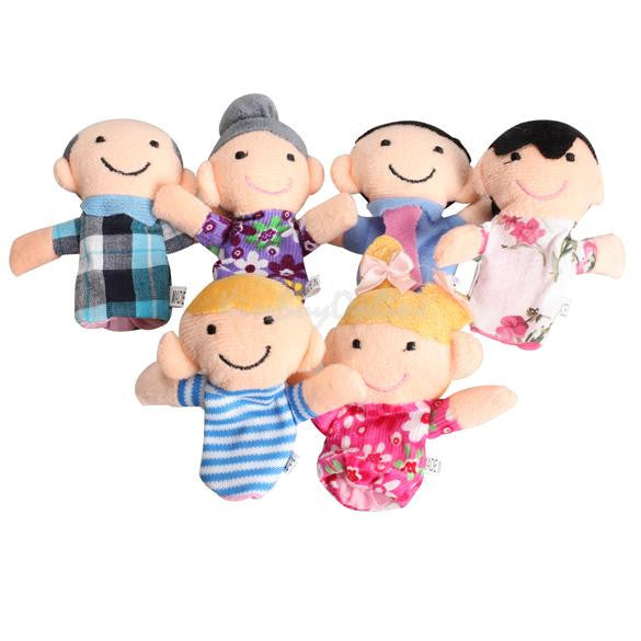 6Pcs Family Finger Puppets Cloth Doll Baby Educational Hand Toy Story Funny Kids Doll Toy