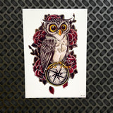 1PC Snowy Owl Hedwig Design Large Arm Tattoo Sleeve Flash Temporary Tattoo Sticker 21x15cm Waterproof Henna Tatoo Women Body Art