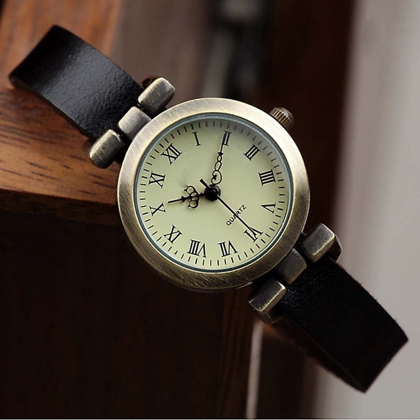 Fashion hot-selling leather female watch Roma vintage watch women dress watches