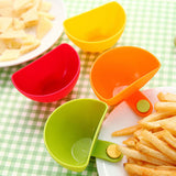 1Pc Dip Clips Kitchen Bowl kit Tool Small Dishes Spice Clip For Tomato Sauce Salt Vinegar Sugar Flavor Spices