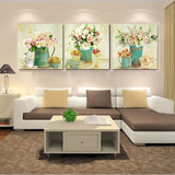 Home Decor Print Canvas Oil Painting Vintage Flower Wall Art Canvas Painting Wall Picture for Living Room Wall Decor No Frame