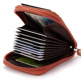 Genuine Leather Mens Card Holder Wallets High Quality Female Credit Card Holders Women Pillow Organizer Purse