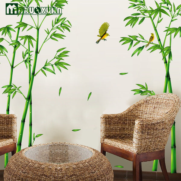 Wall Room Sitting Room Sofa Decorate Wall Stickers Chinese Wind Stick Bamboo Forest Depths Decal