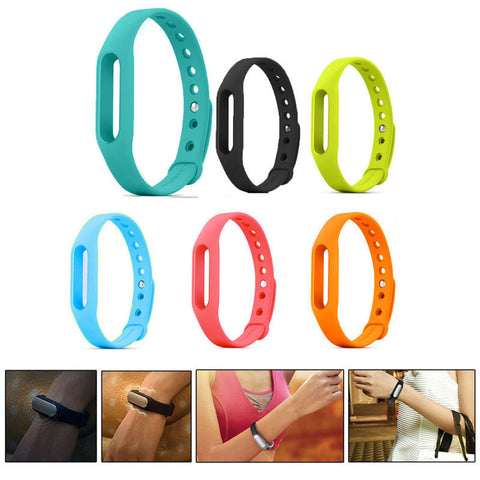 1Pcs 100% Colorful Silicone Xiao mi Wrist Band Bracelet Wrist Strap For Xiaomi Mi band 1 & 1S Smart Band