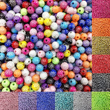 100 piece/lot 8mm Bright Shiny Round Acrylic Loose Spacer DIY Beads For Jewelry Findings Jewelry making Necklace Bracelet