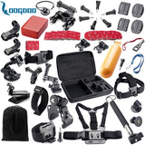 Gopro Accessories Set Helmet Harness Chest Belt Head Mount Strap Monopod For Go pro Hero 5 4 3+2 1 xiaomi yi action camera GS02