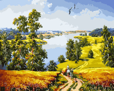 Landscape DIY Painting By Numbers Wall Art DIY Digital Canvas Oil Painting Home Decoration For Living Room 40*50cm