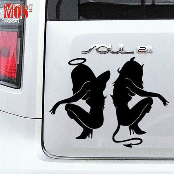 Hot Classic Sexy Girls Sticker Angel and Devil Beauty 16*11cm Car Decal