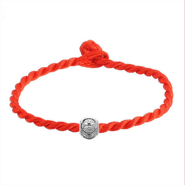2015 red string editing simple and stylish woman with transfer beads bracelet wholesale Free shipping