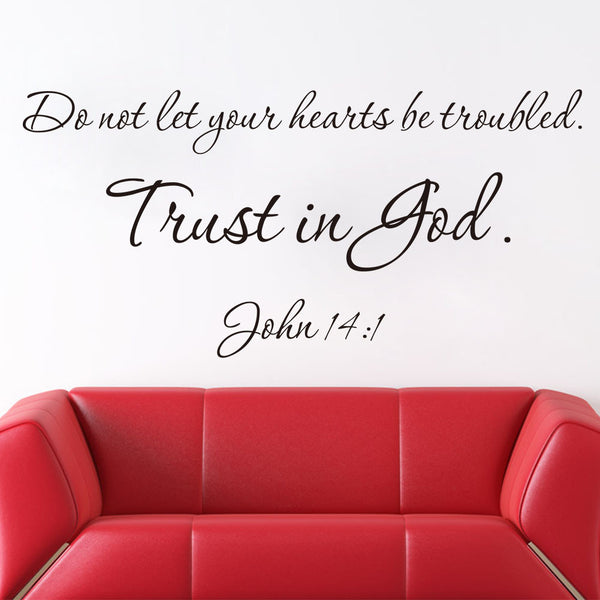 Christian Quote Wall Decals Trust In God Vinyl Wall Stickers Home Decor
