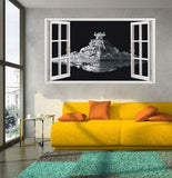 Star Wars Stickers 3D Star Destroyer Waterproof Wall Stickers Removable Wallpaper Home Decor Art Clone