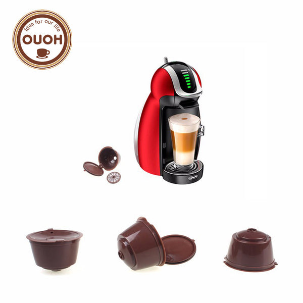 3pcs/pack use 150 times Refillable Dolce Gusto coffee Capsule nescafe dolce gusto reusable capsule