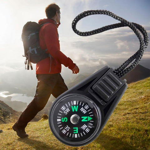 1 PCS Mini Compass Navigator for Camping Caving Hiking with Sling Lanyard