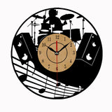 Super Cool Vinyl Record Wall Clock  Theme Art CD Clock Watch Creative Home