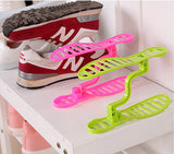 1 Pair Creative Space Save Design Plastic Home Furniture Shoe Storage Shelf Organizer Keeper Unisex Shoe Rack