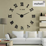 Home Decoration Wall Clock Big Mirror Wall Clock Modern Design Large Size Wall Clocks DIY  Wall Sticker Unique Gift
