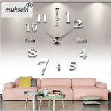 Wall clock 3d diy Acrylic mirror Stickers Quartz Modern Home Decoration