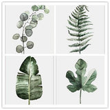 Retro Green Leaf modular pictures Art Prints Poster Wall Picture Canvas Painting No Frame for Living Room Home Decor