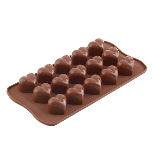 Ice Silicone Cube Chocolate Fondant Cake Jelly Tray Pan Loving Heart Maker Mold Kitchen Baking Cake Tools