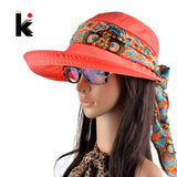Summer hats for women fashion visors cap sun collapsible anti-uv hat 6 colors