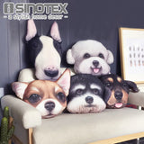 Cute Dog Cushion Cover Pillow Cases Teddy Chihuahua Bull Terrier Schnauzer Sausage 43X43cm Bedroom Sofa Home Decor