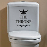 THE THRONE Funny Interesting Toilet Wall Stickers Bathroom Decoration Accessories Home Decor