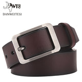 Belt men genuine leather luxury strap male belts for men buckle fancy vintage belt