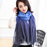 Winter Scarves Women  shawl pashmina Gradual Scarfs Foulard Cotton shawls Scarf wrap
