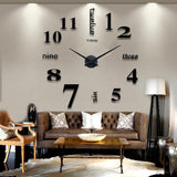 DIY Large Modern Design Decorative Digital 3D Wall Clocks Mirror Stickers Clock