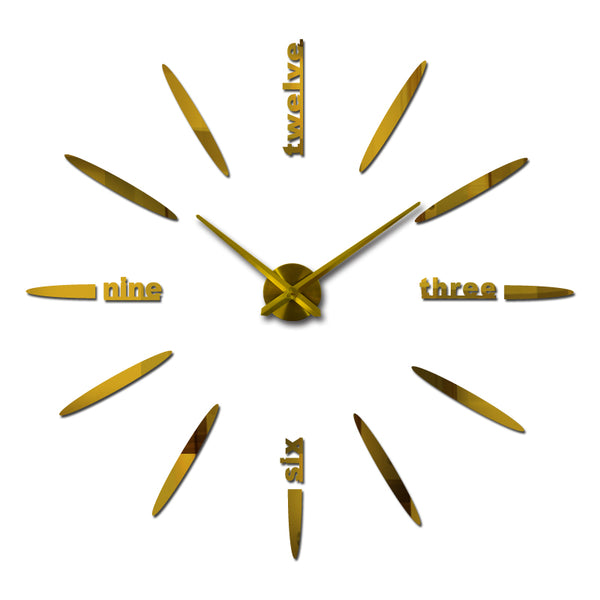 Wall clock watch clocks Circular home decoration acrylic special sticker Living Room Needle