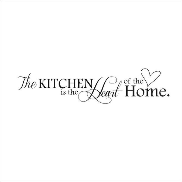 Kitchen is Heart of the Home Letter Pattern Wall Sticker PVC Removable Home Decor DIY wall art mural