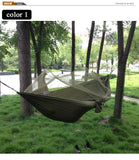 Portable High Strength Parachute Fabric Camping Hammock Hanging Bed With Mosquito Net Sleeping outdoor hammock