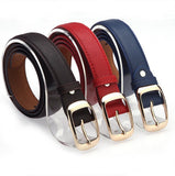 Women Fashion Belts Ladies Faux Leather Metal Buckle Straps Girls Fashion Accessories