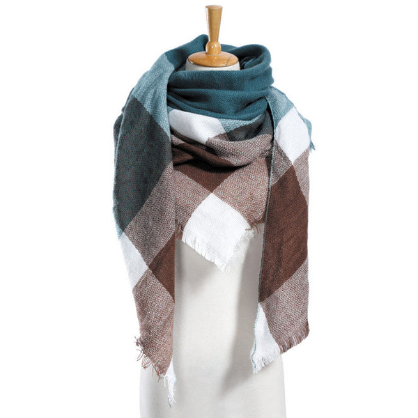 Top quality Winter Plaid Scarf Designer Unisex Acrylic Basic Shawls Women's Scarves