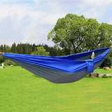 Assorted Colors Hanging Sleeping Bed Parachute Nylon Fabric Outdoor Camping Hammocks Double Person Portable Hammock Swing Bed