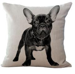 Adorable French Bulldog Dog Series Cushion Pillow on sofa for home decoration