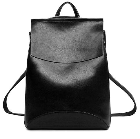 Designer PU Leather Backpack Women Backpacks For Teenage Girls School Bags Black Summer Brand Vintage Backpack