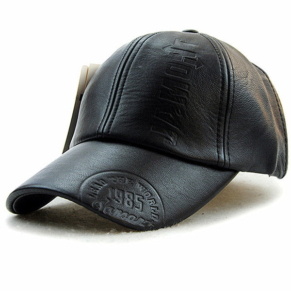 Xthree fashion high quality fall men leather hat Cap casual moto snapback hat men's baseball cap