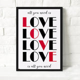 Nordic Modern I Love You Quote Poster A4 Wall Art Canvas Painting No Frame Oil Painting Wall Picture For Living Room Home Decor