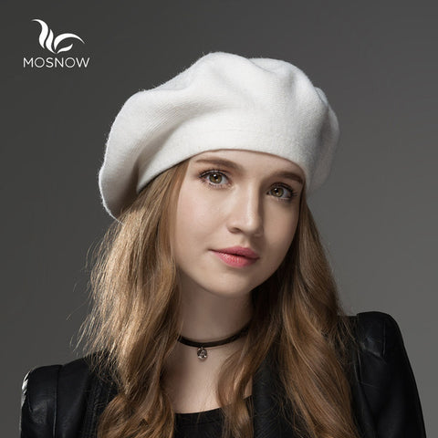 Wool Cashmere Winter Hat Womens Warm Brand Casual High Quality