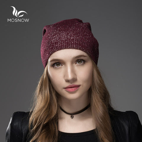 9435e26c562 ... Mosnow Wool Cashmere Winter Hats For Women High Quality Warm Women S  Brand Casual Knitted Vogue Hat ...