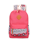 Backpack Set Canvas Printing Backpack Women Cute Lightweight Book bags Middle High School Bags for Teenage Girls