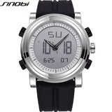 SINOBI Digital Sports Chronograph Men's Wrist Watches Waterproof Rubber Watchband Brand Male Military Geneva Quartz Clock