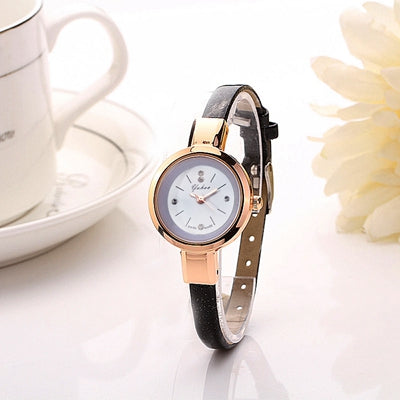 Women Watches Luxury Brand Gold Slim Band Quartz Watch Dress Clock Girl